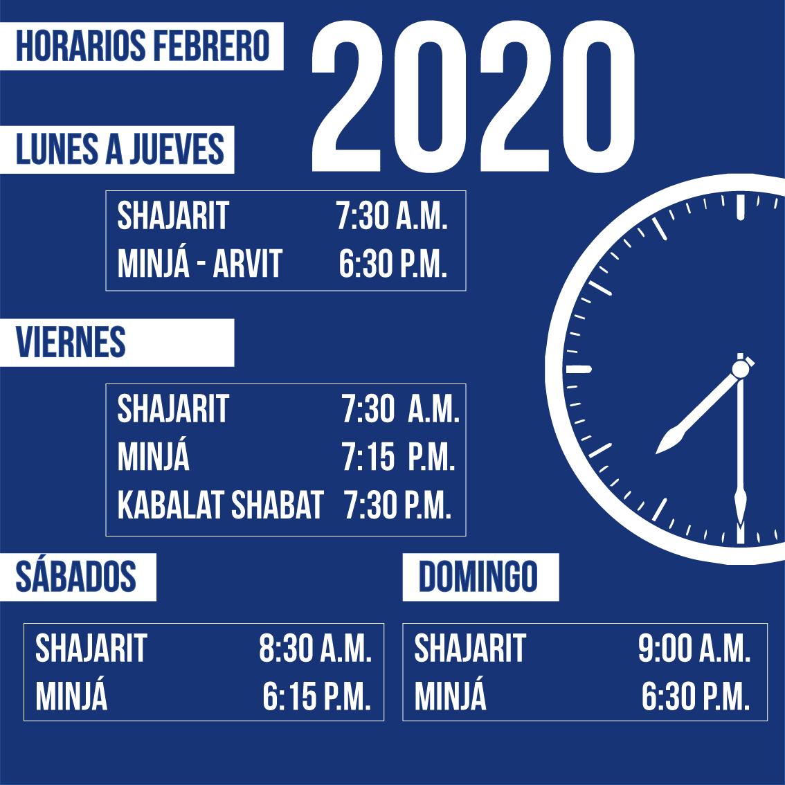 HORARIOS-NUEVO-FEBRERO-2020-NEWS
