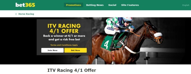 bet365 ITV Racing 4/1 Offer