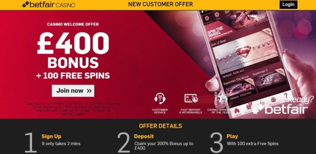 Betfair Casino New Customers Offer