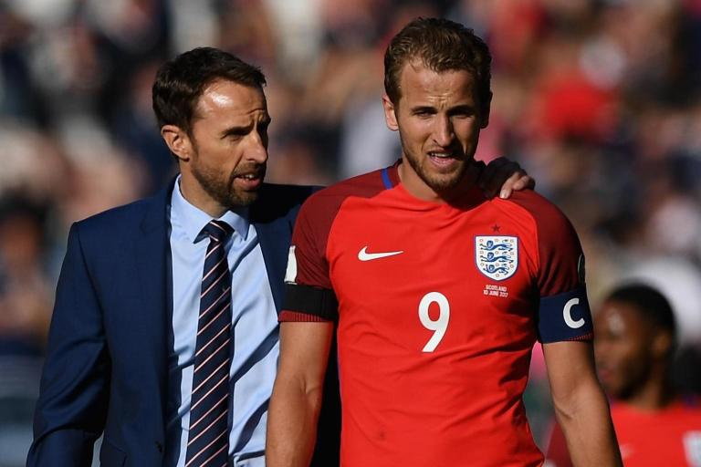 England manager with Harry Kane