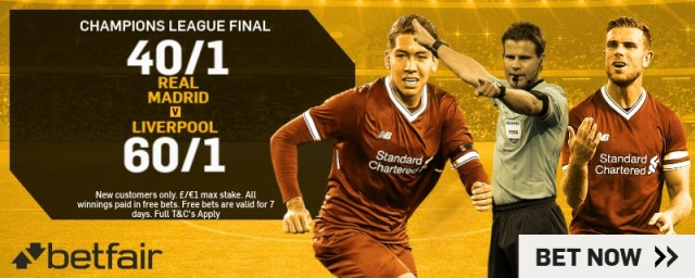 Betfair Champions League New Customers Offer
