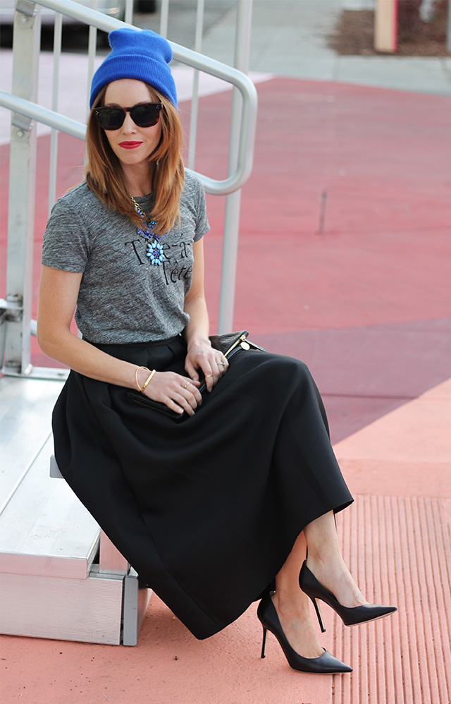 skirt and tee