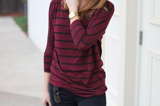 maroon striped sirt