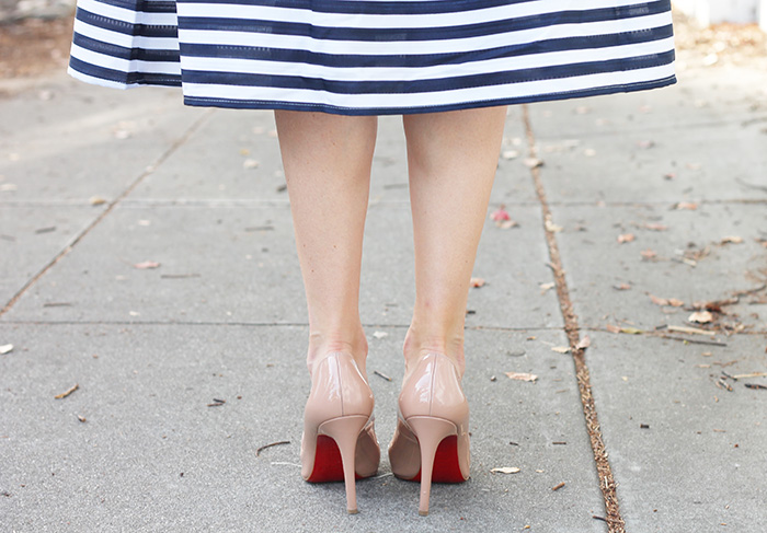 christian louboutins and stripes