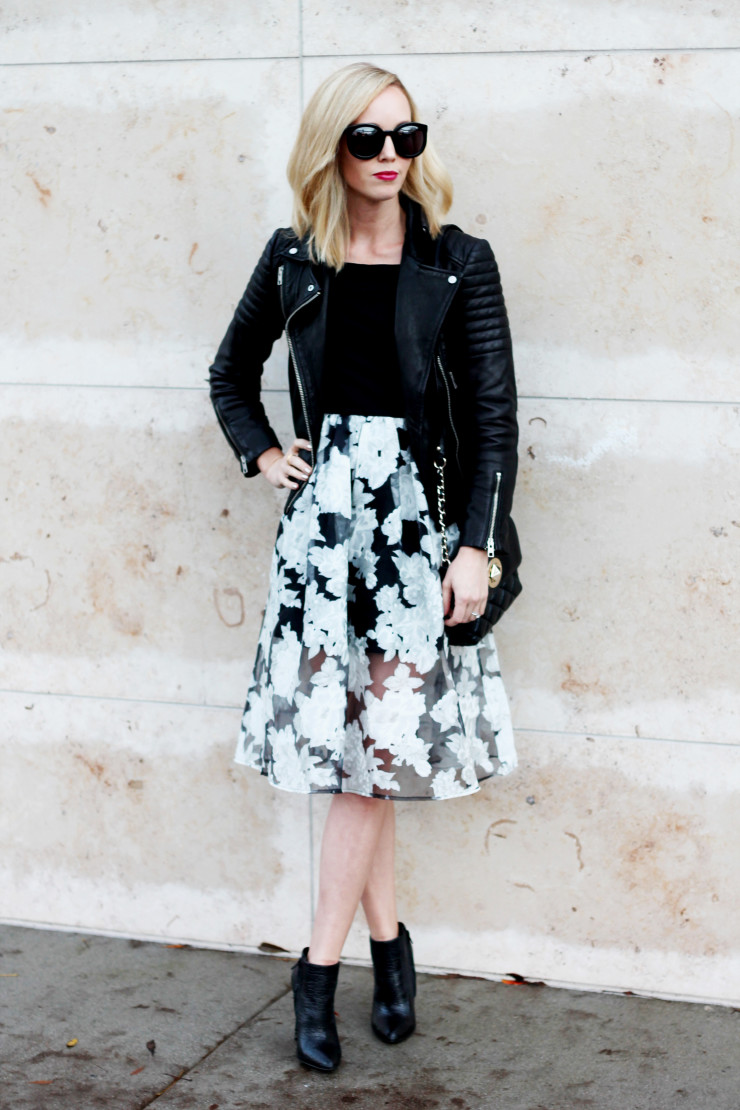 Black and white holiday dress