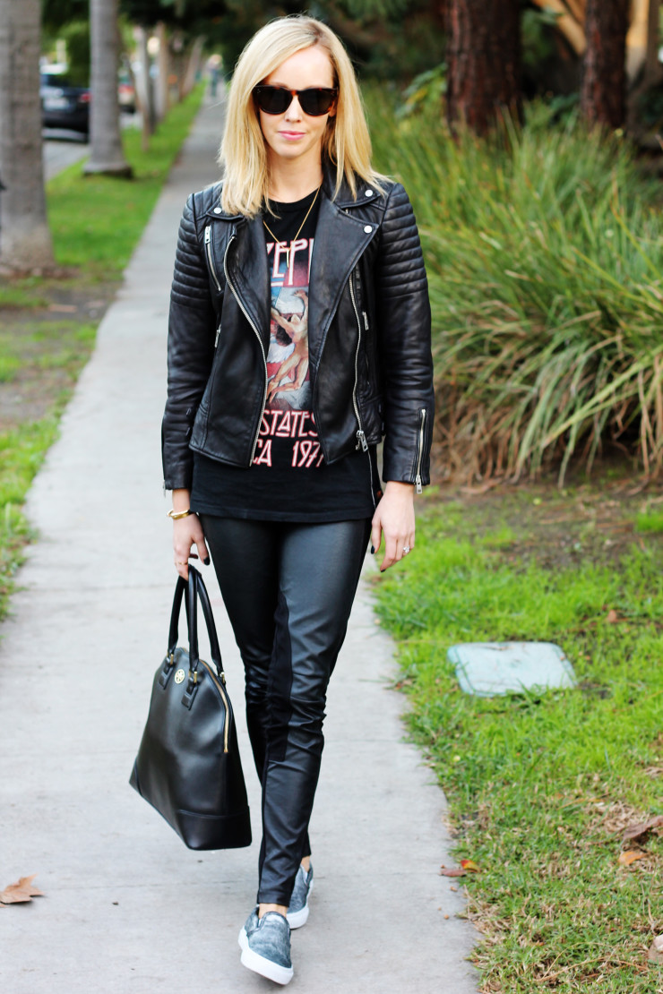 leather on leather outfit