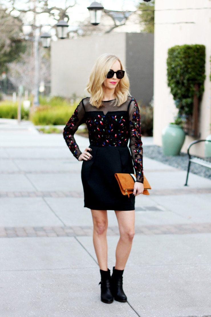 Dress with ankle boots