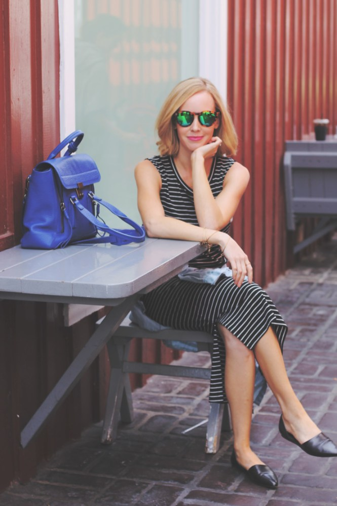 stripe madewell dress