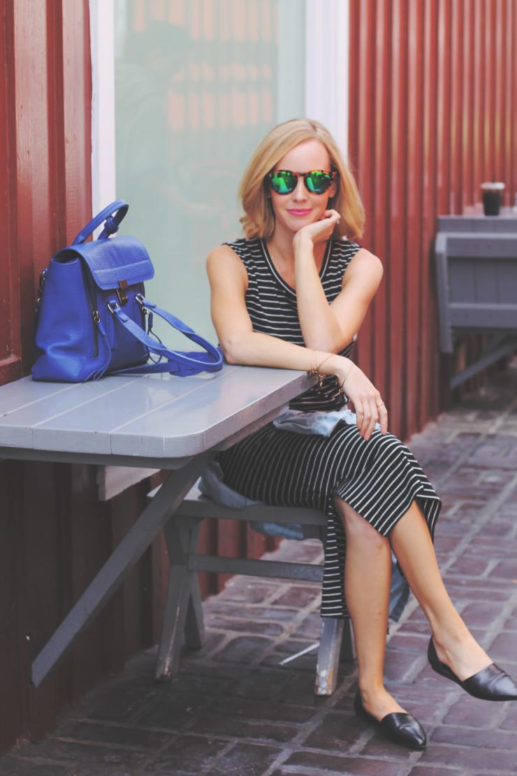 stripe madewell dress
