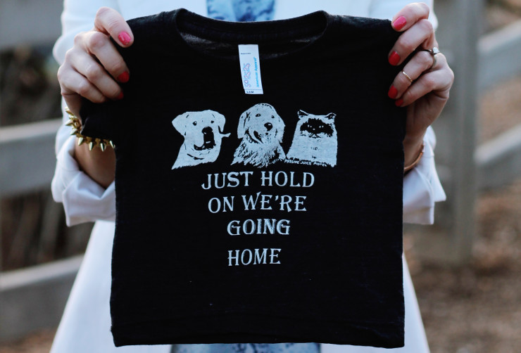 homeward bound baby tee