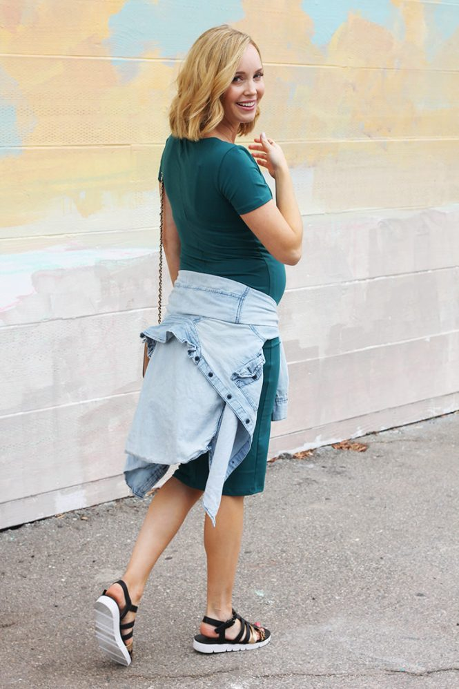 Chambray over Bodycon