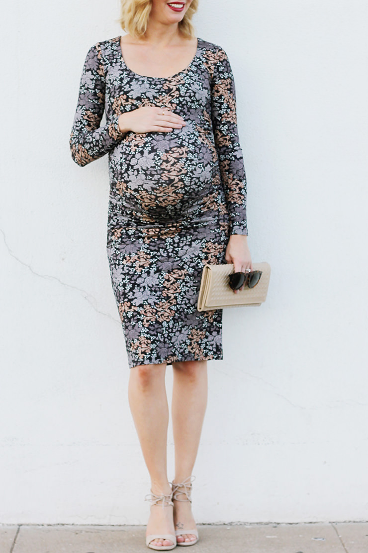 Understated floral bethanimalprint cute maternity dress ombrellifo Image collections