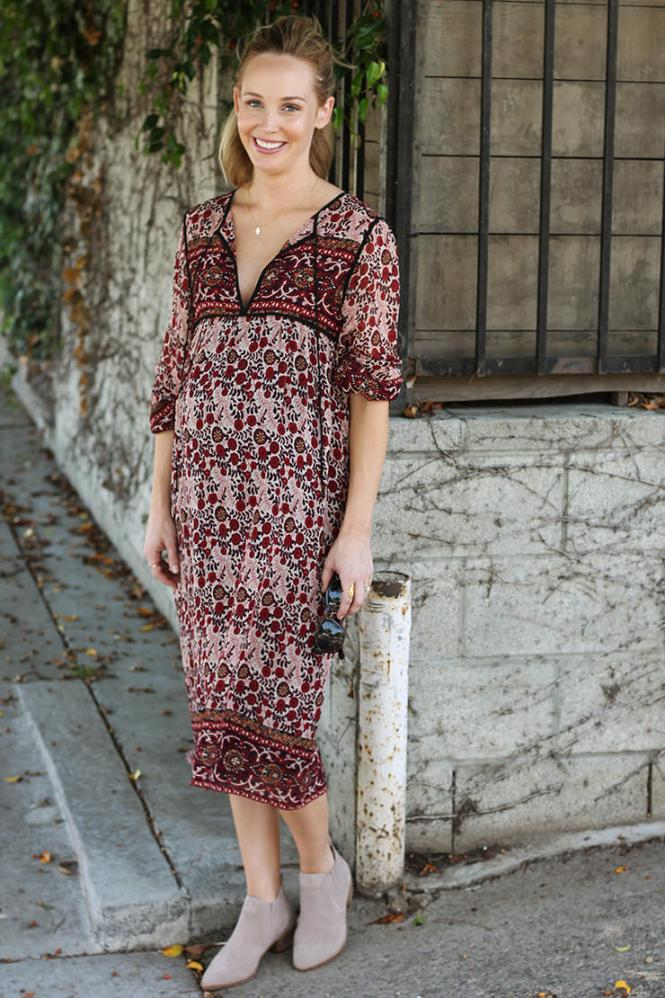 bohemian maternity dress