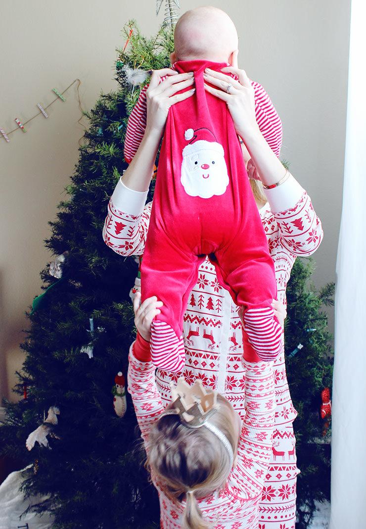 Little Me My First Christmas pajamas
