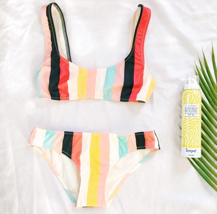 solid and stripe elle bikini