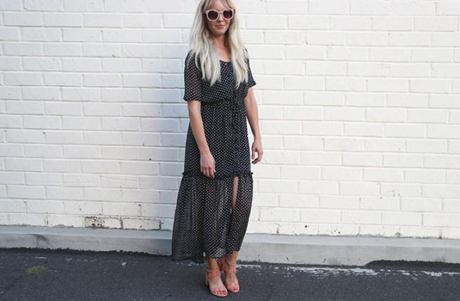 Who What Wear Polka Dot Dress