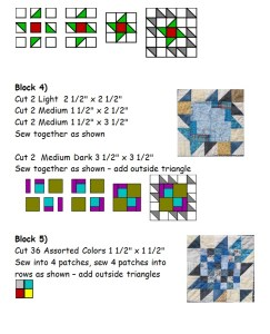 Quilt pattern page from Center of It quilt by the quilt ladies