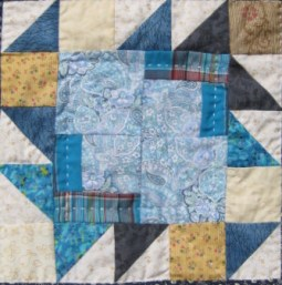 quilt block four from Center of It quilt pattern book