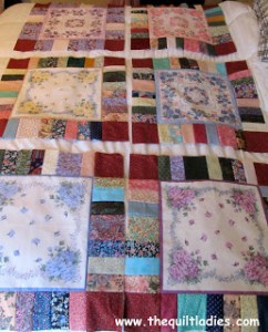 how to make a hankie quilt