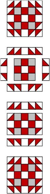 English Rose Quilt Pattern Block