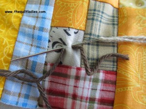 tie a quilt with yarn Archives - Beth Ann Doing... : quilt with yarn ties - Adamdwight.com