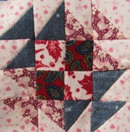 make a little two inch by two inch quilt block