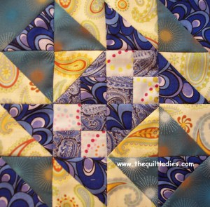Sample quilt block pattern from Crazy Man Quilt Pattern Book