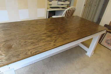 finished building two by four table