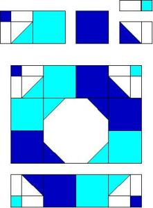 Rolling Bow Quilt Block Pattern