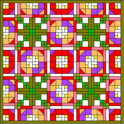 Putting the quilt together, Garden Quilt Block Pattern