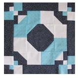 Free Rolling Bow Quilt Block Pattern