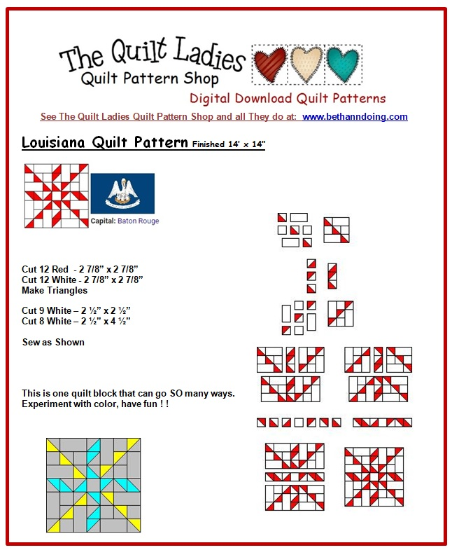 State Quilt pattern Archives -