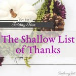 shallow list of thanks, bethany jett.com
