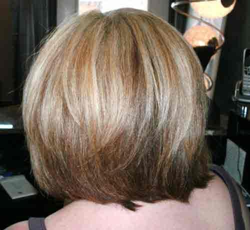 hair highlights blonde golden red