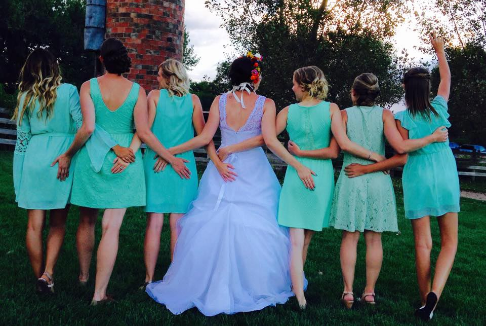 wedding party hair chatfield botanical gardens wedding venue