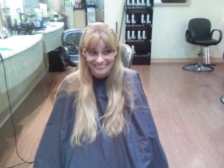 This client hadn't updated her look or cut her hair in years.
