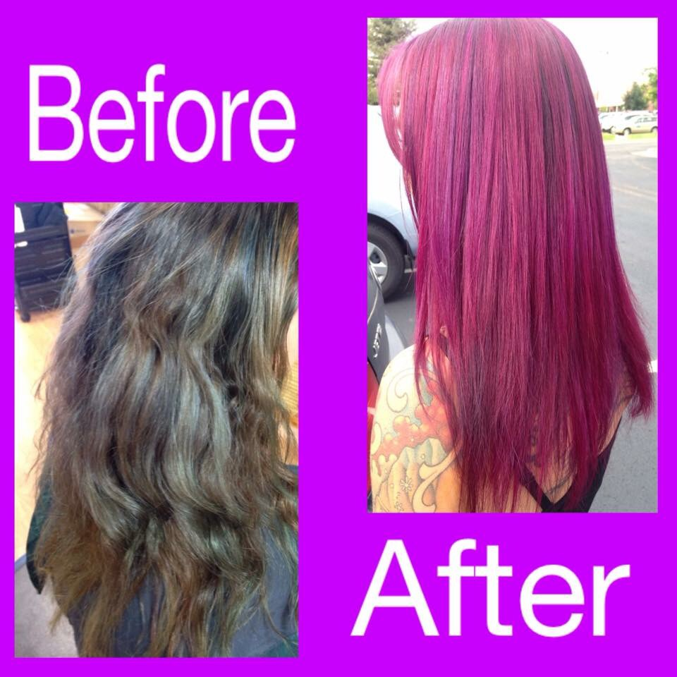red before and after color