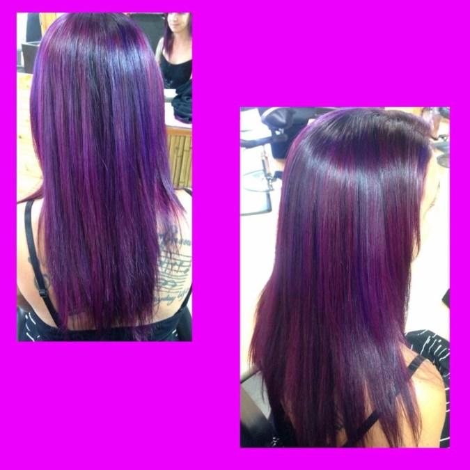long purple hair style parker co bethany at sahair salon