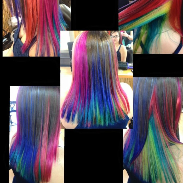 wild colors in hair