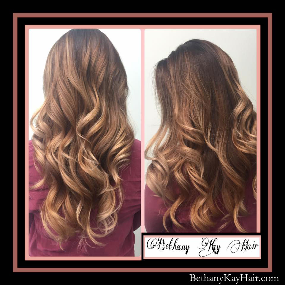 beautiful ombre hair color done in Parker colorado