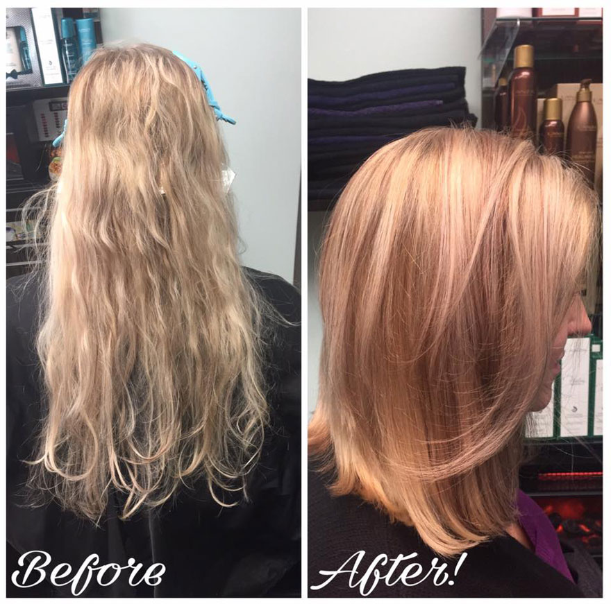 WOW what a before and after cut and color