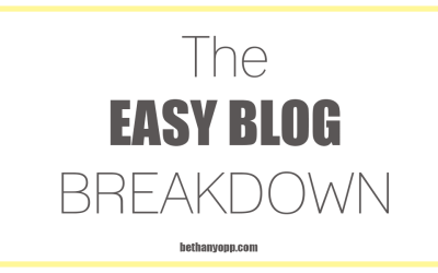 The EASY Blog Breakdown