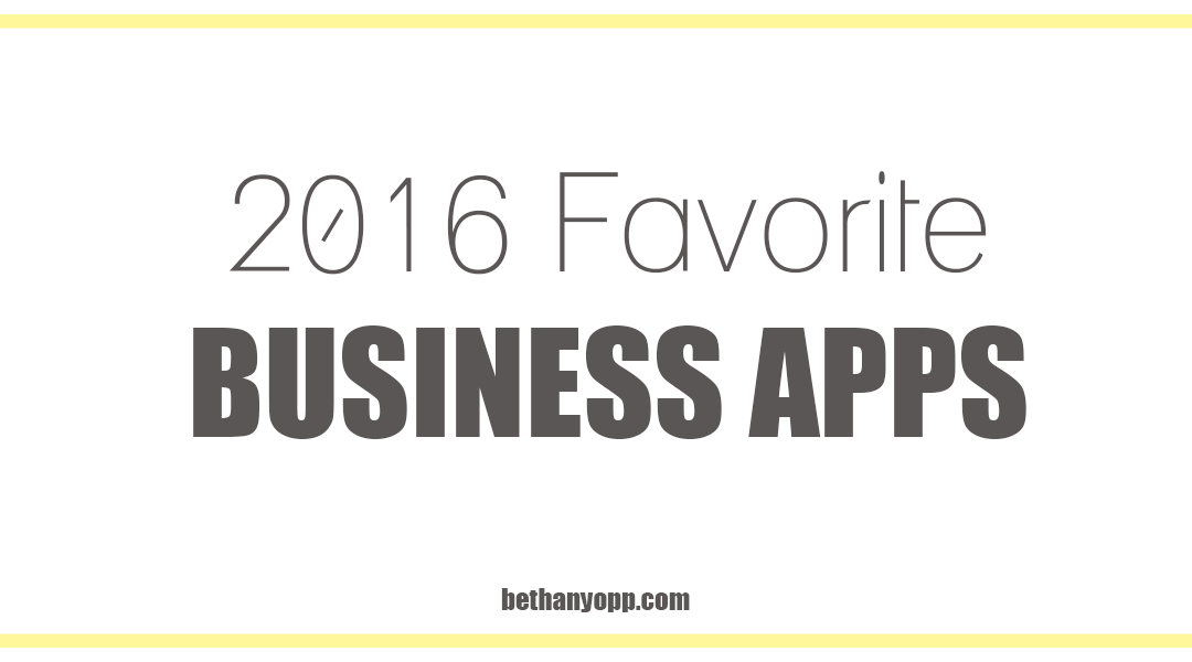 Current Top Favorite Web-Based Business Apps
