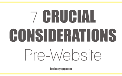 7 CRUCIAL Questions to Consider Before Designing Your Website