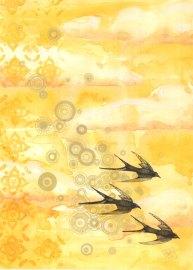 "Watercolour & Pen on Paper, 12""x18"""