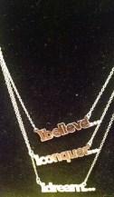 Sterling Silver Affirmation Necklaces