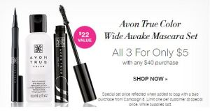 Avon True Color Wide Awake Mascara Set