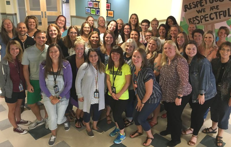 a large group of teachers from FAirfield Elementary