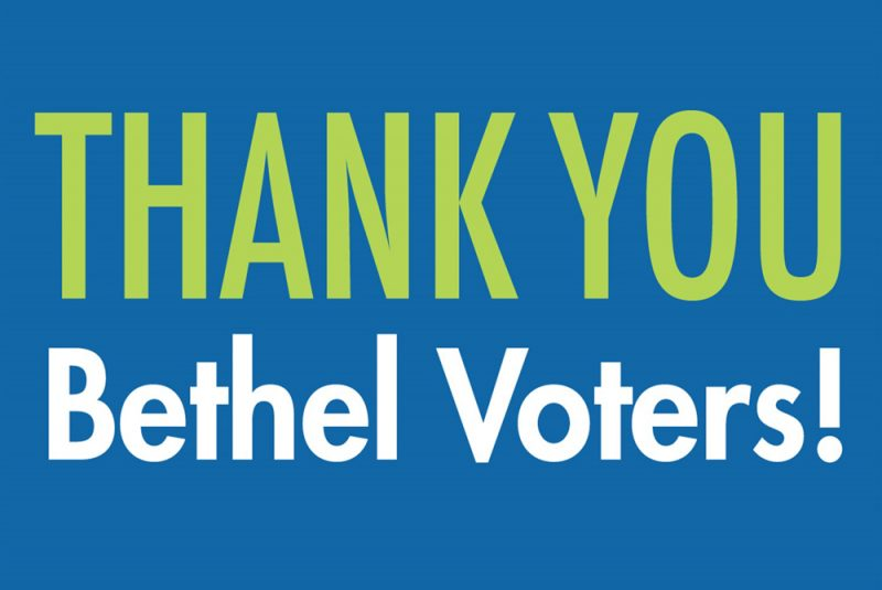 Thank you voters sign