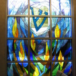 Beth El features many beautiful stained-glass windows.